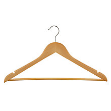 Buy John Lewis Wooden Clothes Hangers, Pack of 10 Online at johnlewis.com