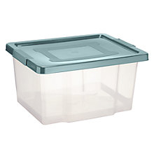 Buy John Lewis Lidded Storage Boxes, Set of 4, 20L Online at johnlewis.com