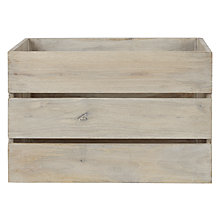 Buy John Lewis Croft Collection High Sided Lime Wooden Crate Online at johnlewis.com