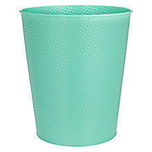 Buy House by John Lewis Embossed Wastepaper Bin, Mint Online at johnlewis.com