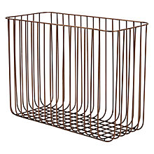 Buy John Lewis Antique Copper Finished Magazine Rack Online at johnlewis.com