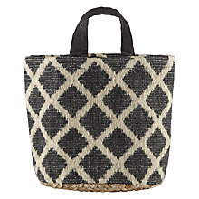 Buy John Lewis Fusion Diamond Jute Basket Online at johnlewis.com
