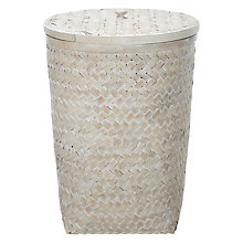 Buy John Lewis Lattice Whitewash Hamper, Natural Online at johnlewis.com