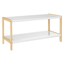 Buy John Lewis White Enamel 2 Tier Shoe Rack Online at johnlewis.com