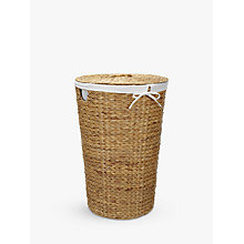 Buy John Lewis Water Hyacinth Laundry Basket Online at johnlewis.com
