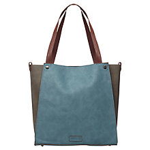 Buy White Stuff Townhouse Shopper, Teal/Brown Online at johnlewis.com