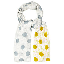 Buy White Stuff Drizzle Spot Scarf, Off White Online at johnlewis.com