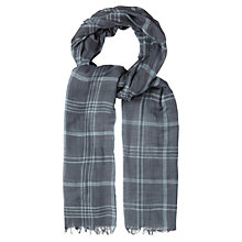 Buy White Stuff East Street Check Scarf, Grey Online at johnlewis.com