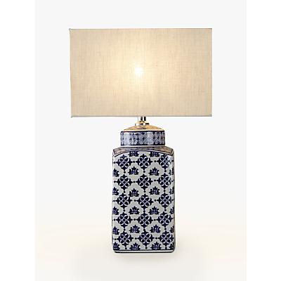 John Lewis Beth Ceramic Lamp Base, Blue/White