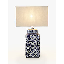 Buy John Lewis Beth Ceramic Lamp Base, Blue/White Online at johnlewis.com