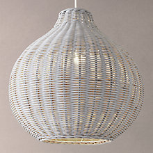 Buy John Lewis Barnaby Round Wicker Shade, Grey Online at johnlewis.com