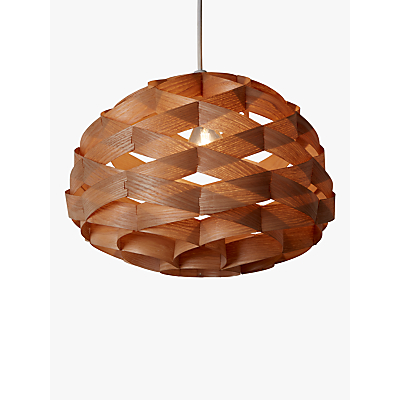 John Lewis Alvin Wood Veneer Ceiling Light