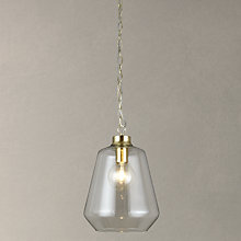 Buy John Lewis Colbert Glass and Brass ES Pendant Light Online at johnlewis.com