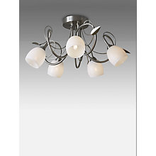 Buy John Lewis Amara Chrome Leaf Multi-Arm Ceiling Light, 5 Light Online at johnlewis.com