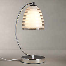 Buy John Lewis Amaury Striped Glass Touch Control Table Lamp Online at johnlewis.com
