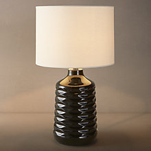Buy John Lewis Annie Ceramic Table Lamp, Black Online at johnlewis.com