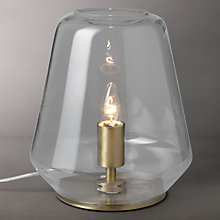 Buy John Lewis Colbert Glass and Brass Table Lantern Online at johnlewis.com