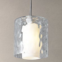 Buy John Lewis Bastiane Ripple Cylinder Glass Pendant Light Online at johnlewis.com