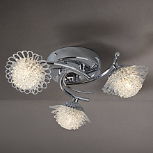 Buy John Lewis Dhara Flower 3 Ceiling Light, Chrome Online at johnlewis.com