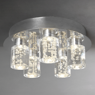 John Lewis Giovanni Bubble Flush 5 Ceiling Light