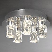 Buy John Lewis Giovanni Bubble Flush LED 5 Ceiling Light Online at johnlewis.com