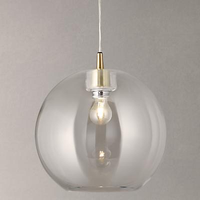 John Lewis Gloria Glass Brass Pendant Light
