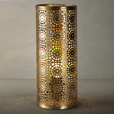 John Lewis Eila Brass Cutwork Table Lamp