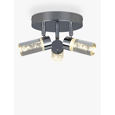 buy john lewis zeus bubbles led 3 bathroom spotlight