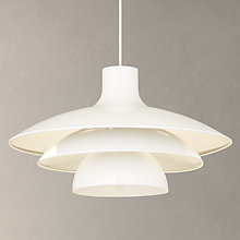 Buy House by John Lewis Harvey Pendant Light, White Online at johnlewis.com