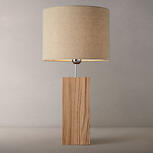 Buy John Lewis Croft Ridley Tall Oak Table Lamp Online at johnlewis.com