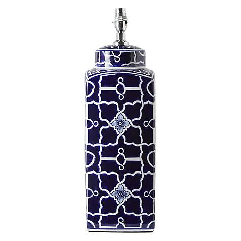 emma tile ceramic base table lamp navy blue online at. Black Bedroom Furniture Sets. Home Design Ideas