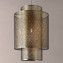 Buy John Lewis Marisa Cutwork Brass Tall Pendant Light Online at johnlewis.com