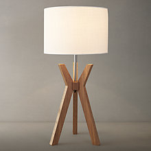 Buy i4DZINE Trafalgar Walnut Table Lamp Online at johnlewis.com