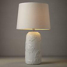 Buy John Lewis Hazel Embossed Ceramic Lamp, White Online at johnlewis.com