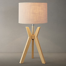 Buy Trafalgar Oak Tripod Table Lamp Online at johnlewis.com