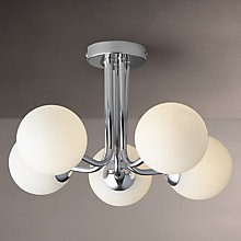 Buy John Lewis Oddyssey 5 Arm Ceiling Light, Chrome Online at johnlewis.com