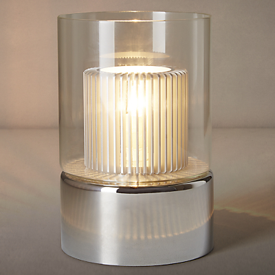 John Lewis Salvatore Glass Alu Shade Touch Table Lamp