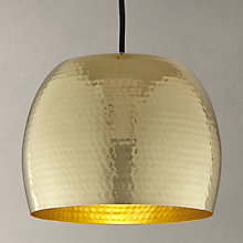 Buy John Lewis Thalia Hammered Brass Pendant Light Online at johnlewis.com