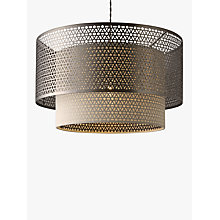 Buy John Lewis Meena Fretwork Steel Pendant Light Online at johnlewis.com