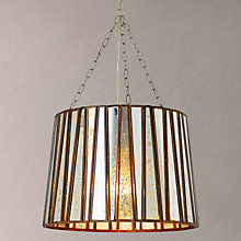 Buy John Lewis Pandora Glass Strips Ceiling Pendant, Silver Online at johnlewis.com