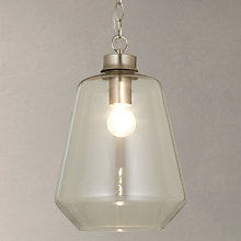 Buy John Lewis Stewart Glass Pendant Light, Satin/Nickel Online at johnlewis.com