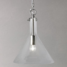 Buy John Lewis Tracy Nickel Glass Pendant Light Online at johnlewis.com