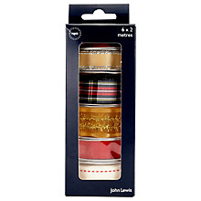 Buy John Lewis Traditional Christmas Ribbon Box, Assorted Online at johnlewis.com