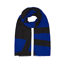 Buy Planet Colour Block Scarf, Royal Blue Online at johnlewis.com