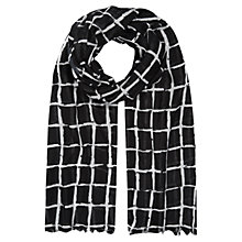 Buy Planet Broken Check Print Scarf, Black Online at johnlewis.com