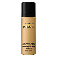 Buy bareMinerals bareSkin® Pure Brightening Serum Foundation SPF20 Online at johnlewis.com