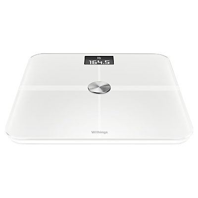 Withings WS-50 Smart Body Analyzer, Health Tracking Wireless Bathroom Scale, White