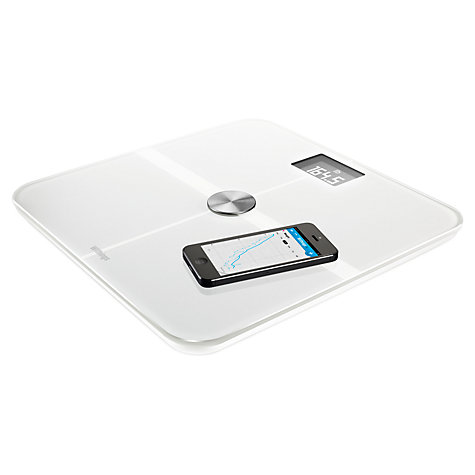Buy Withings WS-50 Smart Body Analyzer, Health Tracking Wireless Bathroom Scale, White Online at johnlewis.com