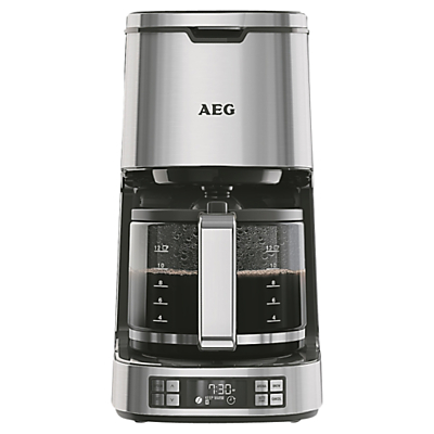 AEG KF7800 Filter Coffee Machine, Silver