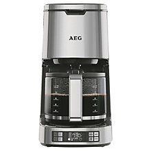 Buy AEG KF7800 Filter Coffee Machine, Silver Online at johnlewis.com